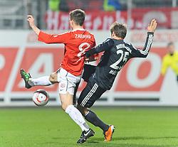 19.02.2011, Bruchwegstadion, Mainz, GER, 1. FBL, Mainz 05 vs FC Bayern Muenchen, im Bild Thomas Mueller (Bayern #25) macht gegen Radoslav ZABAVNIK (Mainz #8) das 0:2, EXPA Pictures © 2011, PhotoCredit: EXPA/ nph/  Roth       ****** out of GER / SWE / CRO  / BEL ******