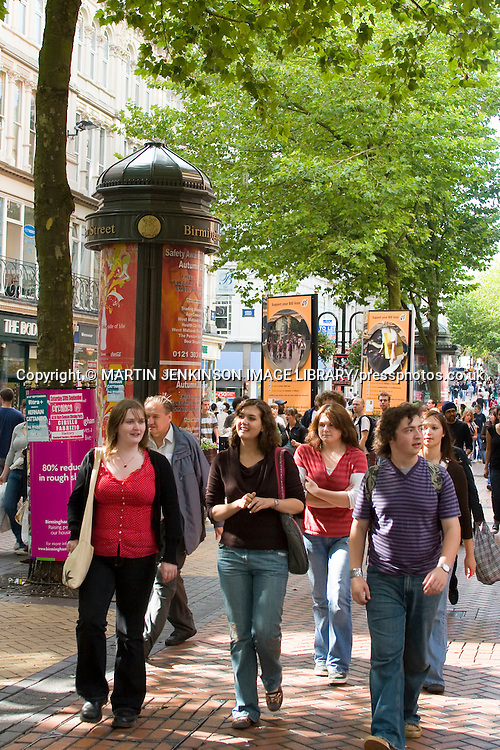 Group of young women New Street Birmingham ....