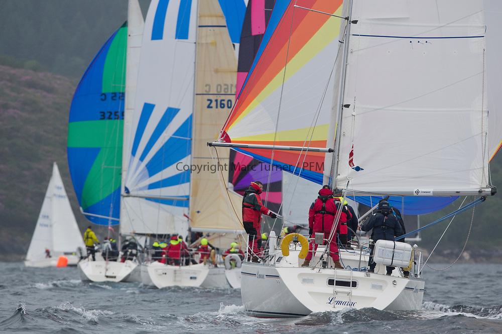 Silvers Marine Scottish Series 2017<br /> Tarbert Loch Fyne - Sailing<br /> <br /> 4040C, Lemarac, Mr. A. Boyd Tunnock, Clyde Cruising Club, Moody 38<br /> Credit: Marc Turner / CCC