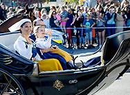 Stockholm, 06-06-2017 <br /> <br /> Swedish Royal Family members on their way to Skansen at the National Day of Sweden.<br /> <br /> <br /> COPYRIGHT: ROYALPORTRAITS EUROPE/ BERNARD RUEBSAMEN