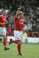 Photo: Pete Lorence.<br />Nottingham Forest v Bentford. Coca Cola League 1. 04/11/2006.<br />Kris Commons celebrates his second goal of the match.
