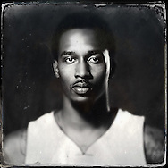 Sep 29, 2014; Auburn Hills, MI, USA;  (Editor's Note: Photo was post-processed creating a digital tintype) Detroit Pistons guard Brandon Jennings (7) during media day at the Pistons practice facility. Mandatory Credit: Rick Osentoski-USA TODAY Sports