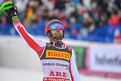 17.02.2019, Aare, SWE, FIS Weltmeisterschaften Ski Alpin, Slalom, Herren, 2. Lauf, im Bild Goldmedaillengewinner und Slalom Weltmeister Marcel Hirscher (AUT) // gold medalist and world champion Marcel Hirscher of Austria reacts after his 2nd run of men's Slalom of FIS Ski World Championships 2019. Aare, Sweden on 2019/02/17. EXPA Pictures © 2019, PhotoCredit: EXPA/ Erich Spiess