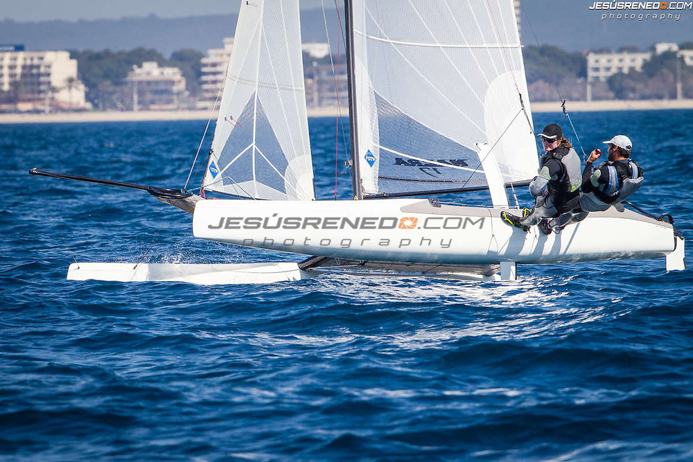 Palma de Mallorca, Spain, Arenal Training Camps 2014. Last Day of Racing, March 15th 2014. Besson Billy,<br />