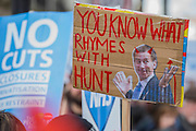 A march against cuts to and potential privatisation of the NHS starts in Tavistock Square and heads for Parliament Square. The march was organised by the peoples assembly and supported by most major unions and the Labour Party.