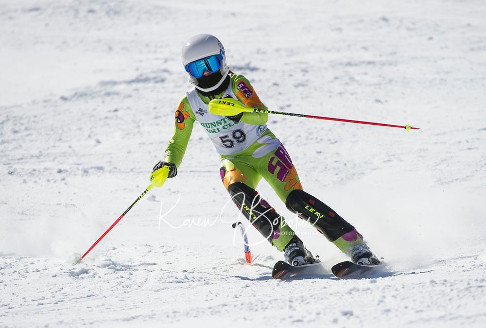 Paul Ladouceur Slalom ladies U14 second run.  ©2018 Karen Bobotas Photographer