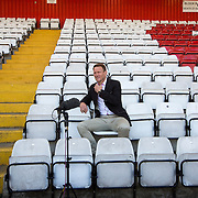 PIC BY GEOFF ROBINSON PHOTOGRAPHY 07976 880732.<br /> <br /> Pic shows Teddy Sheringham talking to the press  at The Lamex Stadium,home of Stevenage FC  on Thursday May 21st after being appointed their new manager .<br /> <br /> Stevenage Football Club has appointed ex-England striker Teddy Sheringham as its new manager today (Thurs).<br /> <br /> The former Tottenham and Manchester United forward will replace outgoing manager Graham Westley whose contract at the League Two club ends next week on May 31.<br /> <br /> It is the first managerial job for Sheringham, who won 51 England caps and was the oldest goalscorer and outfield player in Premier League history.<br /> <br /> He has spent the last season as West Ham's attacking coach, but is now keen to become a manager.<br /> <br /> He told Sky Sports News today (Thurs) his overriding feelings was &quot;excitement.&quot;