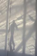 shadow of man walking