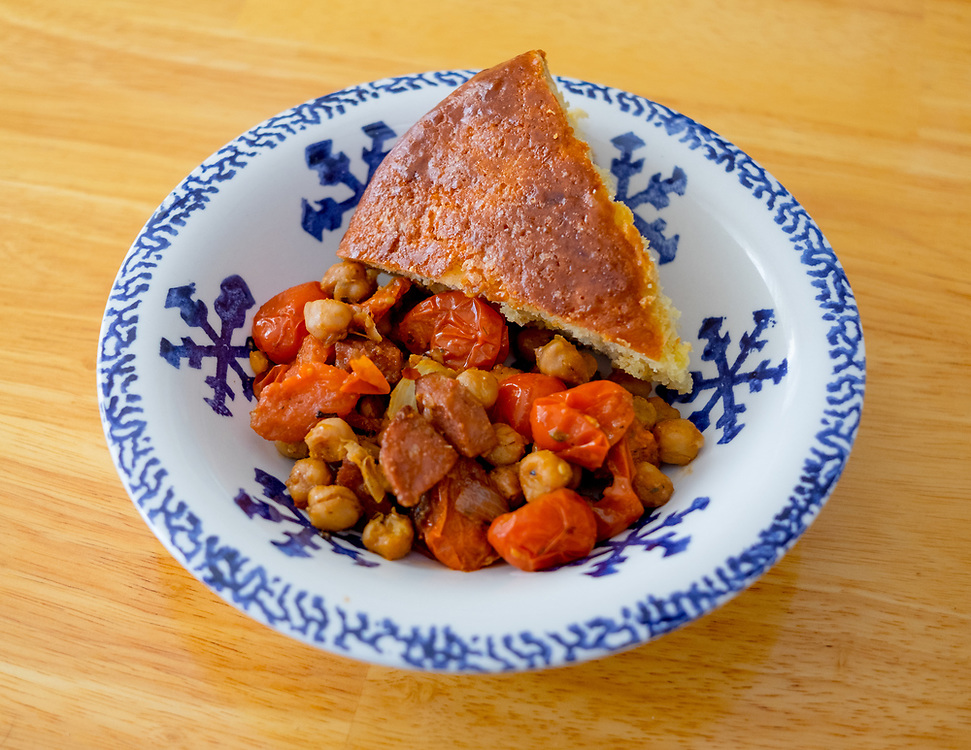 Sausage & Chickpeas w/ Portuguese Sweet Bread at Mae's House (Mae's Ho$pitality) - OFF: Boston