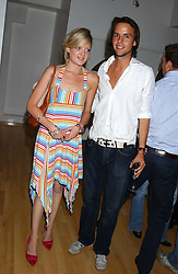 LADY ELOISE ANSON and CHARLIE GILKES at the launch of Friday Nights at Mamilanji - Chelsea's newest and most exclusive members club, 107 Kings Road, London SW3 hosted by Charlie Gilkes and Duncan Stirling held on 29th July 2005.<br /><br />NON EXCLUSIVE - WORLD RIGHTS