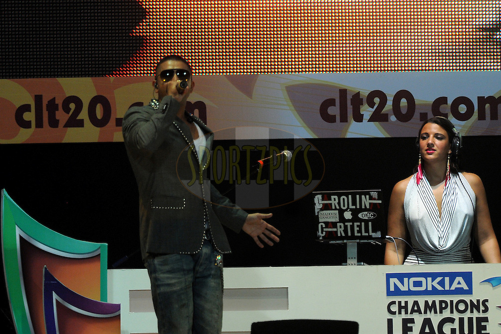 Jay Sean performs before the start of the match 1 of the NOKIA Champions League T20 ( CLT20 )between the Royal Challengers Bangalore and the Warriors held at the  M.Chinnaswamy Stadium in Bangalore , Karnataka, India on the 23rd September 2011..Photo by Pal Pillai/BCCI/SPORTZPICS
