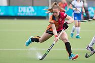 Eindhoven - Oranje Rood - Kampong  Dames, Hoofdklasse Hockey Heren, Seizoen 2017-2018, 15-04-2018, Oranje Rood - Kampong 3-1,  Lisa Post (Oranje-Rood)<br /> <br /> (c) Willem Vernes Fotografie