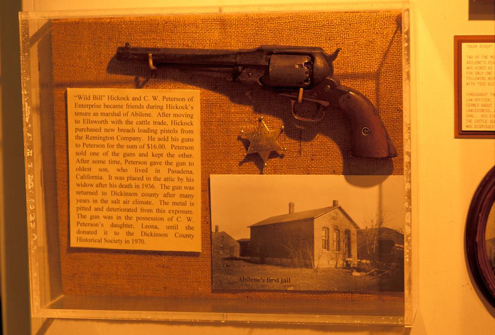 Museum display at Heritage Center, Abilene, Kansas, USA
