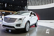 New York, NY, USA-23 March 2016. The Cadillac XT5, a luxury crossover car.