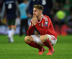 October 9, 2017 - Cardiff, Pays de Galles - Wales' Aaron Ramsey looks dejected after the match (Credit Image: © Panoramic via ZUMA Press)
