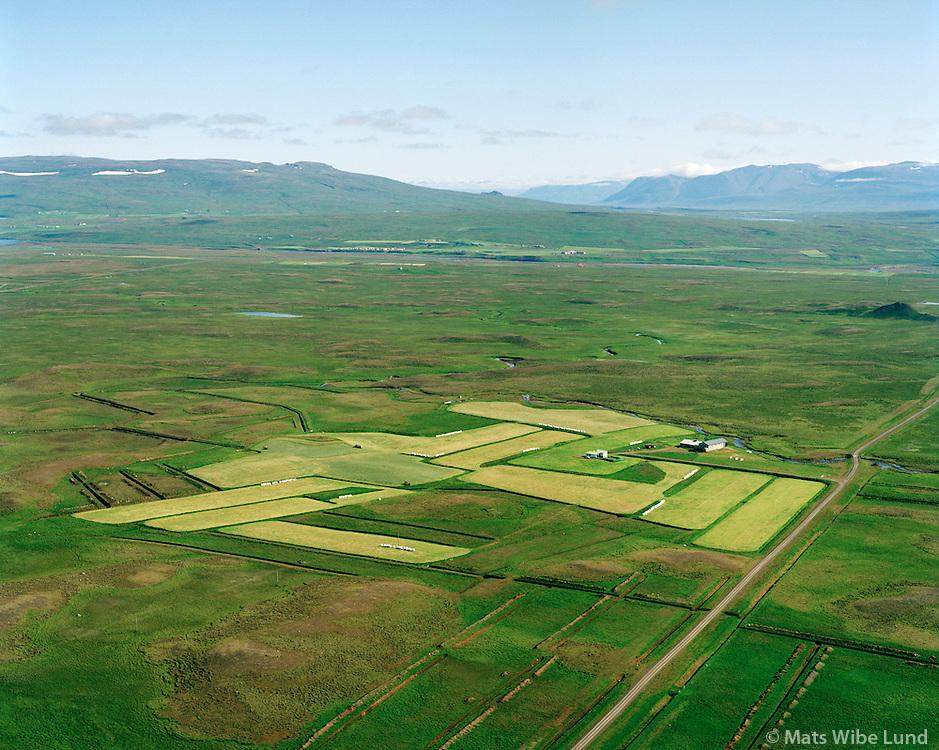 Brúarholt séð til austurs, Húnaþing vestra áður Ytri-Torfustaðahreppur / Bruarholt viewing east. Hunathing vestra former Ytri-Torfustadahreppur.
