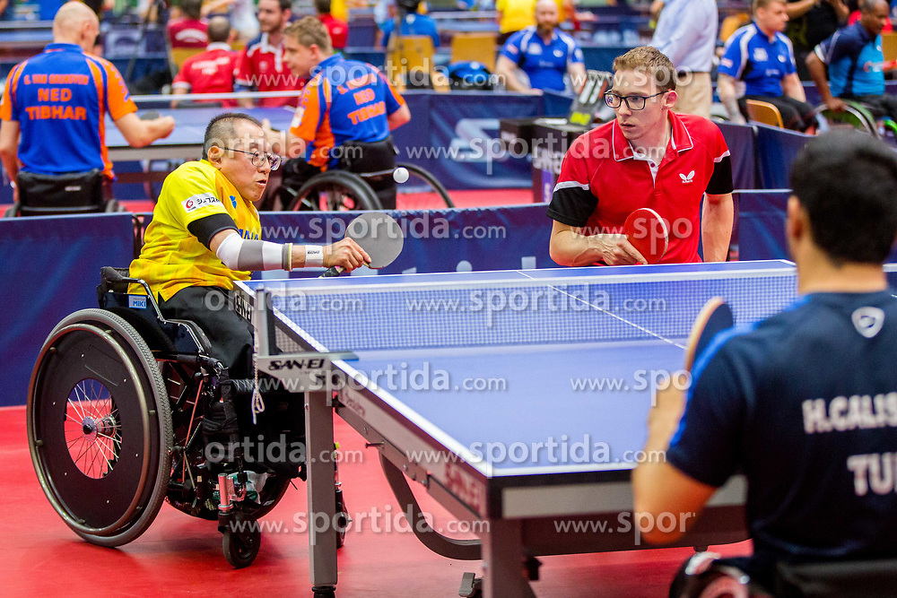 (Team BEL) BRANDS Bart and OKA Toshihiko in action during 15th Slovenia Open - Thermana Lasko 2018 Table Tennis for the Disabled, on May 10, 2018 in Dvorana Tri Lilije, Lasko, Slovenia. Photo by Ziga Zupan / Sportida