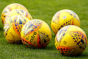 Match balls at the ready ahead of the warm up at the Ladbrokes Scottish Premiership match between St Mirren and Hibernian at the Simple Digital Arena, Paisley, Scotland on 29th September 2018.