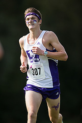Lewis Kent of the Western Mustangs  (307) competes in the men's 8k  at the 2015 Western International Cross country meet in London Ontario, Saturday,  September 26, 2015.<br /> Mundo Sport Images/ Geoff Robins