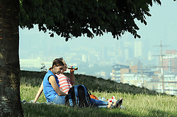 © Licensed to London News Pictures. 04/09/2013<br /> September mini heatwave weather today (04.09.2013)across the UK.<br />  People enjoying the September sun at Greenwich Park,London today before it turns to rain over the weekend.<br /> Photo credit :Grant Falvey/LNP