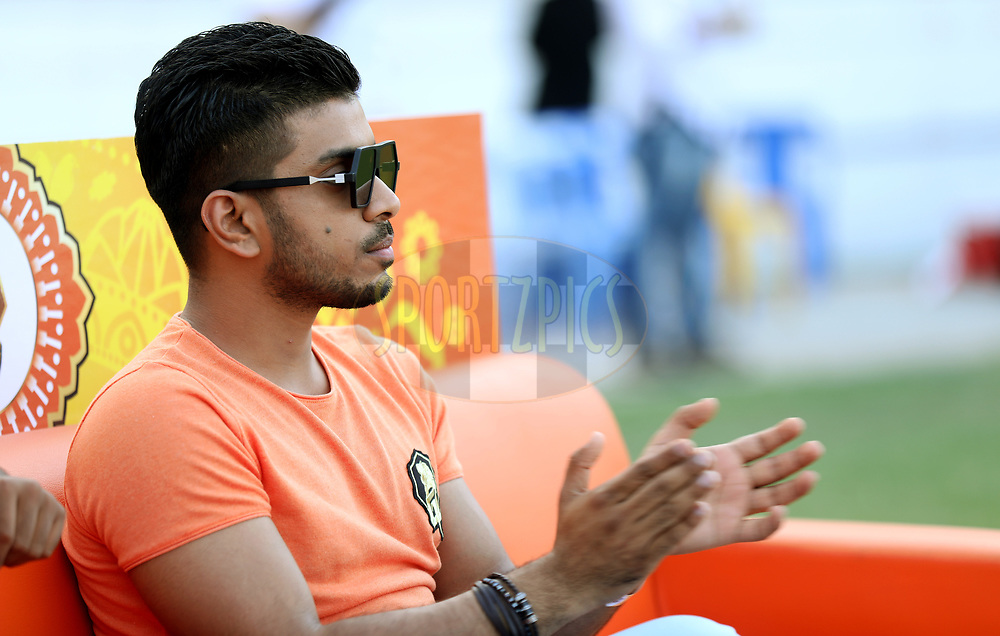 Keshav Bansal owner of Gujatar Lions during match 26 of the Vivo 2017 Indian Premier League between the Gujarat Lions and the Kings XI Punjab held at the Saurashtra Cricket Association Stadium in Rajkot, India on the 23rd April 2017<br /> <br /> Photo by Sandeep Shetty - Sportzpics - IPL