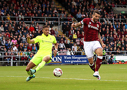 Marc Richards of Northampton Town scores the opening goal against Hartlepool United - Mandatory byline: Robbie Stephenson/JMP - 07966 386802 - 10/10/2015 - FOOTBALL - Sixfields Stadium - Northampton, England - Northampton Town v Hartlepool - Sky Bet League Two