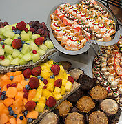 Food at reception following opening ceremony at The Rusk School, April 7, 2014.