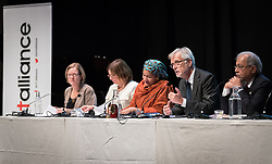 "29 October 2018, Uppsala, Sweden: Rev. Dr Martin Junge moderates a plenary on ""The role of faith based actors in achieving the 2030 Agenda for Sustainable Development"". The session included speeches by Amina Mohammed, Deputy Secretary General of the United Nations, Carin Jämtin, Director General of Swedish International Development Cooperation Agency, and Swedish deputy Prime Minister Isabella Löwin. Rev. Dr Martin Junge, General Secretary of the Lutheran World Federation moderated the session."