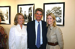 Left to right, VISCOUNT & VISCOUNTESS PETERSHAM and their daughter VISCOUNTESS LINLEY at an exhibition of photographs by Lord Snowdon held at the Chris Beetles Gallery, Ryder Street, London on 18th September 2006.<br />