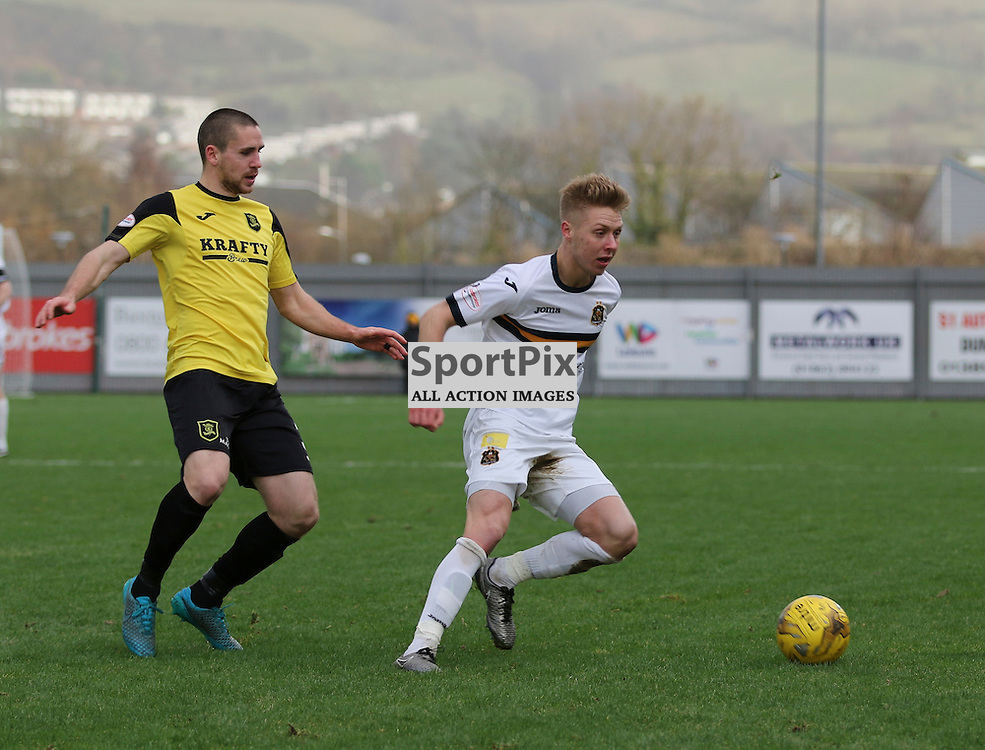 Jamie Lindsay on the ball during the  Dumbarton v Livingston  Scottish Championship 30 January 2016<br /> <br /> (c) Andy Scott | SportPix.org.uk