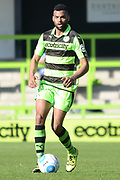 Forest Green Rovers defender Curtis Tilt (2) on the ball 0-1 during the Vanarama National League match between Forest Green Rovers and North Ferriby United at the New Lawn, Forest Green, United Kingdom on 1 April 2017. Photo by Alan Franklin.