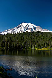 Reflection Lake with Mount Rainier in the background, Mt. Rainier National Park, Washington, United States of America