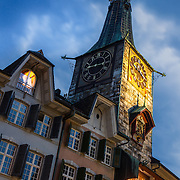 A major landmark in the city of Solothurn, Switzerland. It was built in 1467 and in 1545 the astronomic clock dial was added by Lorenz Liechti and Joachim Habrecht.