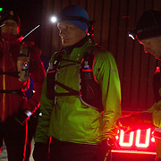 50 miles runners get ready to run on Hammer Harbour. Salomon Hammer Trail Winter Edition is a first on Bornholm and is one of the toughest routes in Denmark. The 4 runs consist of a 50 mile run, a marathon, a 1/2 marathon and 10k all run a on an approximate 25km route which includes 860 meter vertical rise on the North East coast of the Danish island Bornholm. The cut-off time for the 50mile run was 16 hours and more than a hundred runners made it to the finishing line. The last runner across the line after 50 miles  was in after 15:14:40