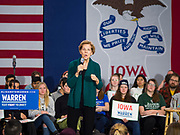 19 JANUARY 2020 - DES MOINES, IOWA: US Senator ELIZABETH WARREN (D-MA) campaigns in Des Moines Sunday. With just two weeks to go before the Iowa Caucuses, Sen. Warren is campaigning in the Des Moines area this weekend to support her effort to be the Democratic nominee for the US presidential race in 2020. Iowa traditionally hosts the first presidential selection event of the campaign season. The Iowa caucuses are Feb. 3, 2020.           PHOTO BY JACK KURTZ