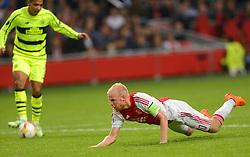 17-09-2015 NED: UEFA Europa League AFC Ajax - Celtic FC, Amsterdam<br /> Davy Klaassen #10 krijgt de kans om 2-2 te maken maar valt over zijn eigen benen