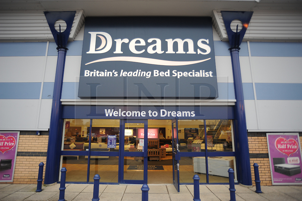 © Licensed to London News Pictures. 06/03/2013. Dreams superstore in Orpington,Kent. The national furniture chain has entered administration and over 90 stores are expected to close with the loss of up to 500 jobs. Photo credit : Grant Falvey/LNP