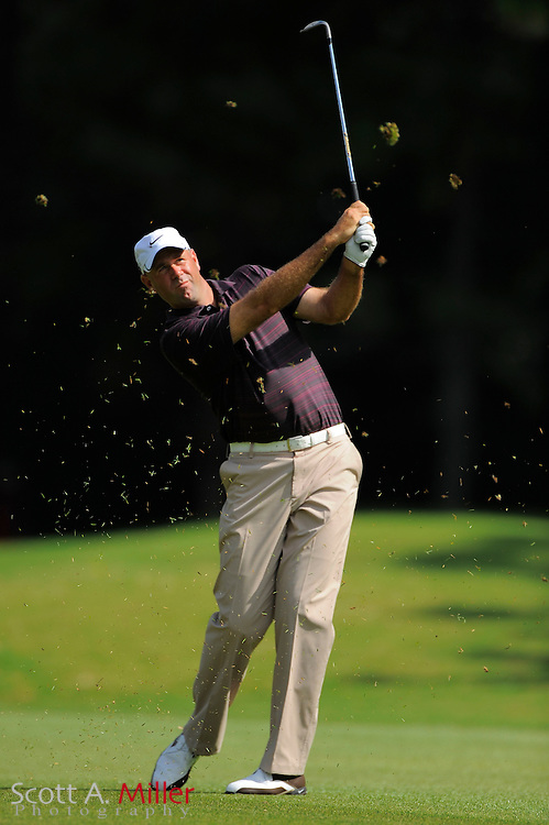 Stewart Cink (USA) hits his second shot on the 16th hole during the first round of the PGA Tour Championship at East Lake Golf Club on Sept. 24, 2009 in Decatur, Ga.     ..©2009 Scott A. Miller