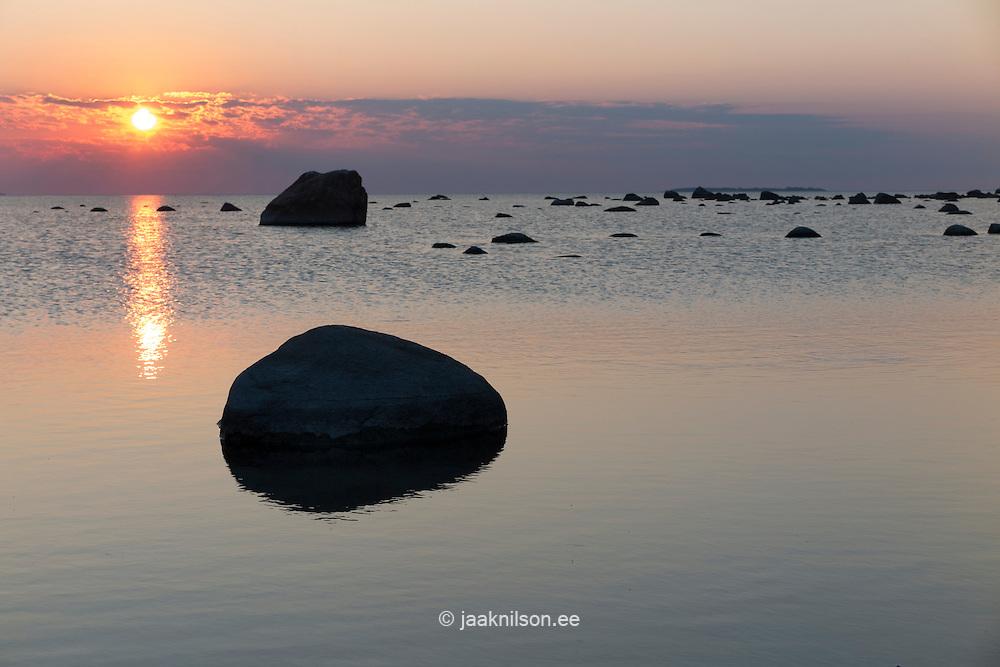 Sunset over Baltic sea in Käsmu, Estonia