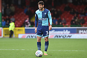 Wycombe Wanderers defender Joe Jacobson (3) 1-0 during the EFL Sky Bet League 2 match between Swindon Town and Wycombe Wanderers at the County Ground, Swindon, England on 21 October 2017. Photo by Alan Franklin.