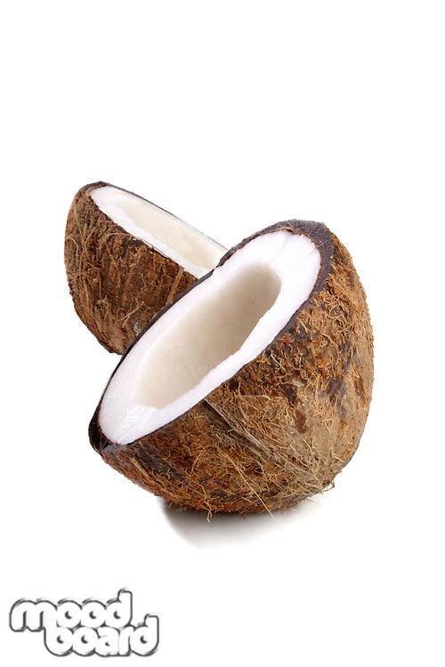 Studio shot of coconut at white backround