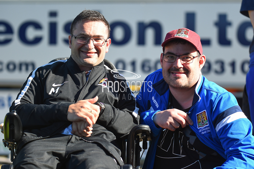 (CAPTION CORRECTION)  Mustafa (Muzzy) El-Bayati EFL supporter of the year during the EFL Sky Bet League 1 match between Northampton Town and Oldham Athletic at Sixfields Stadium, Northampton, England on 5 May 2018. Picture by Dennis Goodwin.