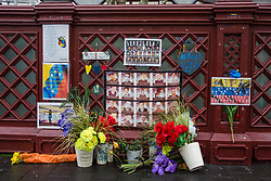 London, UK. 4th February, 2019. Tributes outside the Embassy of Venezuela to those who have died during anti-government protests in Venezuela.