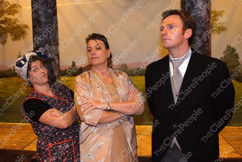 Pictured during the Ennistymon Musical Society Dress Rehearsal in Lachinch were: Ailish Lawlor, Caroline Kinch, Jimmy Considine<br />