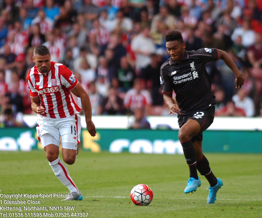 JOE GOMEZ LIVERPOOL, Stoke City v Liverpool, Premiership, Britannia Stadium Sunday 9th August 2015