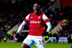 Chiedozie Ogbene of Rotherham United celebrates his goal to make it 3-0 - Mandatory by-line: Ryan Crockett/JMP - 18/01/2020 - FOOTBALL - Aesseal New York Stadium - Rotherham, England - Rotherham United v Bristol Rovers - Sky Bet League One