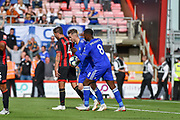Leicester City Midfielder, James Maddison (10) scores a penalty to make it 4-1 during the Premier League match between Bournemouth and Leicester City at the Vitality Stadium, Bournemouth, England on 15 September 2018.