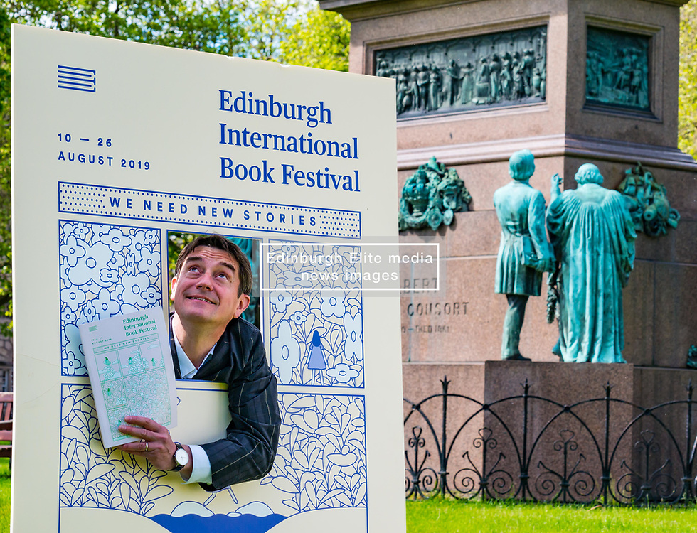 Pictured: International Book Festival Launch. Charlotte Square Gardens, Edinburgh, Scotland, United Kingdom, 06 June 2019. Nick Barley, Director of Edinburgh International Book Festival launches the 2019 Book Festival programme.<br /> <br /> Sally Anderson | EdinburghElitemedia.co.uk