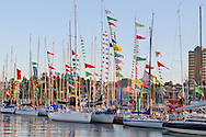 Van Isle 360 International Yacht Race boats docked in Nanaimo Harbour before the start of the 2013 race at Nanaimo, British Columbia, Canada