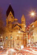 Europe, Germany, North Rhine-Westphalia, Cologne, the romanesque church St. Aposteln at the Neumarkt...Europa, Deutschland, Nordrhein-Westfalen, Koeln, die romanische Kirche St. Aposteln am Neumarkt.